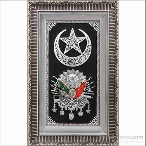 Gümüş Yaldız Hilalli Osmanlı Arması Tablo