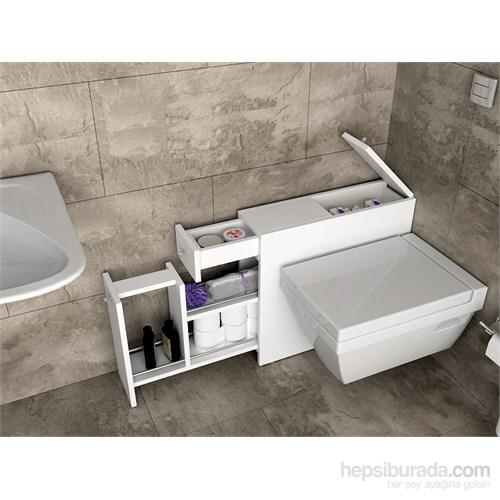 Bunjee Fonksiyonel Çekmeceli Banyo Dolabı - Beyaz