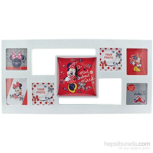Minnie Mouse Çerçeveli Duvar Saati