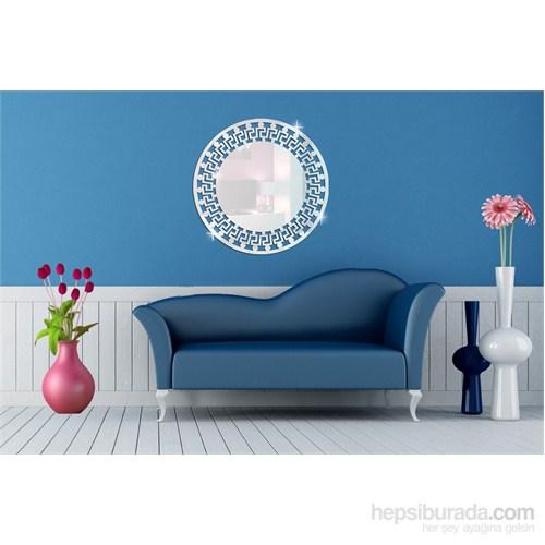 Desenli Daire Dekoratif Ayna