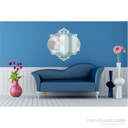 Oval Desenli Dekoratif Ayna