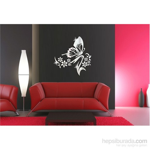 Kelebek Çiçek Dekoratif Ayna