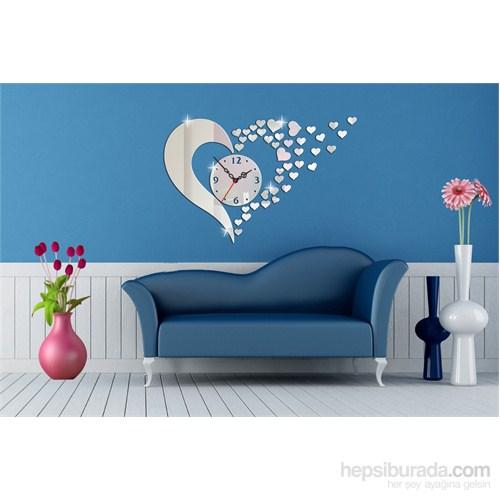Uçuşan Kalpler Dekoratif Ayna Saat