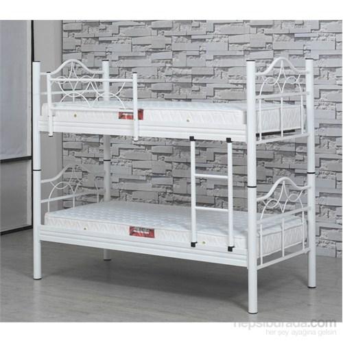 Metalia Gm605 Ranza + Yatak Takımı Beyaz