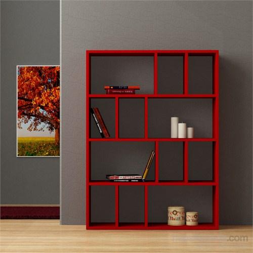 Decortie Donie Kitaplık Kırmızı