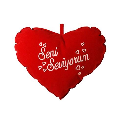 """Coco Bonbon Büyük Kalp Yastık """"Seni Seviyorum""""--36*30cm"""