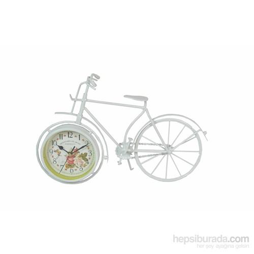 Cosiness Ferforje Metal Dekoratif Bisiklet Masa Saati