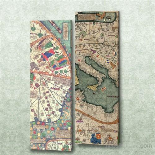 Dekorjinal 2 Li Dikdörtgen Kanvas Tablo Seti Sel009