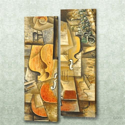 Dekorjinal 2 Li Dikdörtgen Kanvas Tablo Seti Sel120