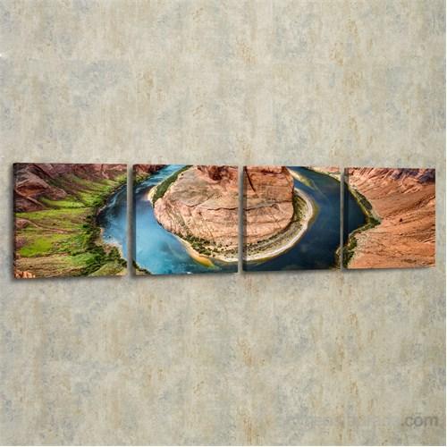 Dekorjinal 4 Lü Panaromik Kanvas Tablo Seti Tas177