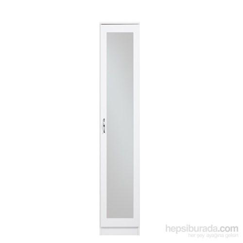 Evmanya Haus Tek Kapılı Giysi Askılı Aynalı Gardırop