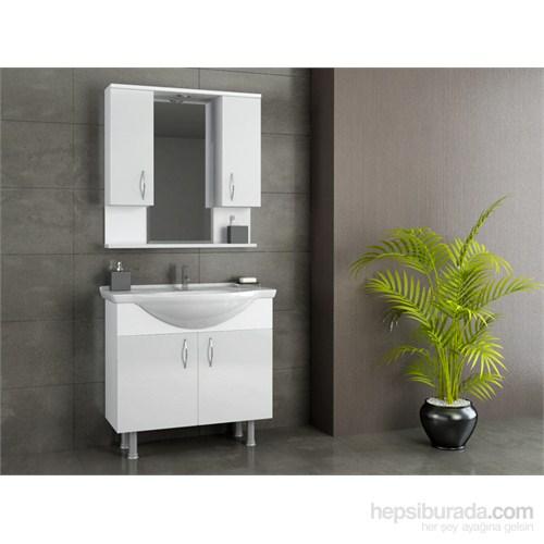 Evmanya Haus 80 cm Banyo Dolabı - Beyaz