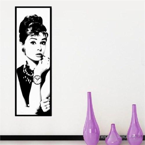 Aurdey Hepburn - Çerçeveli Kanvas Saat