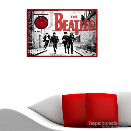Beatles - Çerçeveli Kanvas Saat