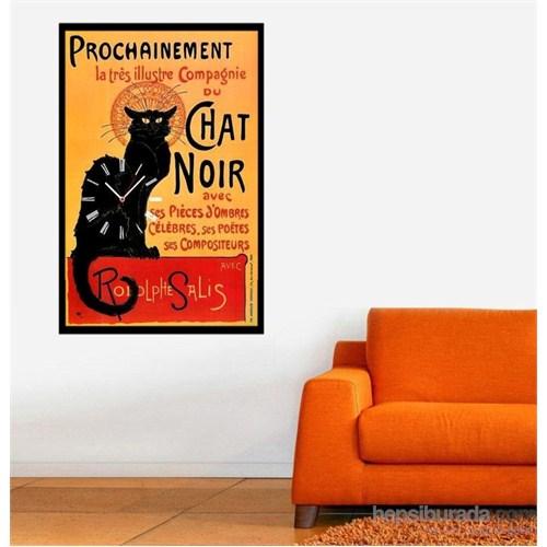 Chat Noir - Çerçeveli Kanvas Saat