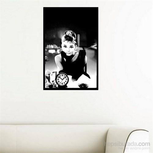 Audrey Hepburn - Çerçeveli Kanvas Saat