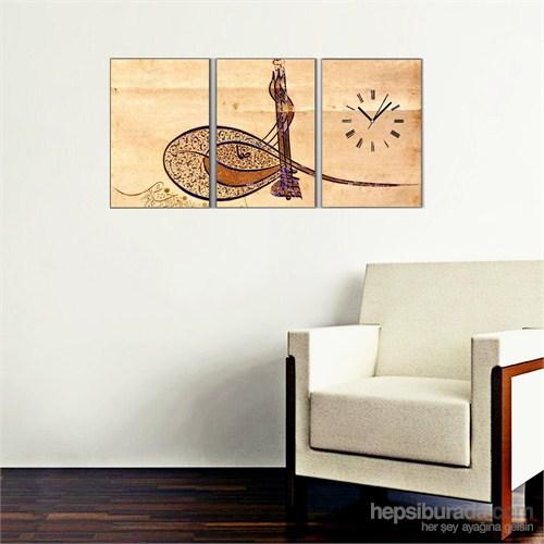 Osmanlı Tuğra - 3 Parçalı Kanvas Saat