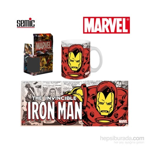 Marvel Retro Series: Iron Man Ceramic Mug Kupa Bardak