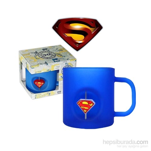 Dc Universe: Superman 3D Rotating Logo Crystal Bardak