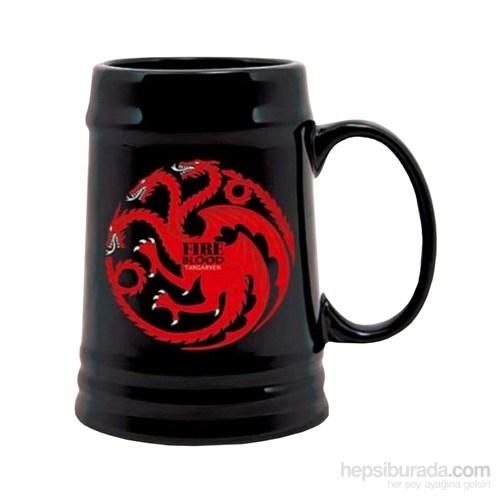 Game Of Thrones Targaryen Black Ceramic Stein Bardak