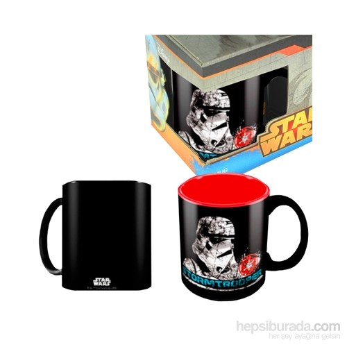 Star Wars: Stormtrooper Black Red Ceramic Mug Bardak