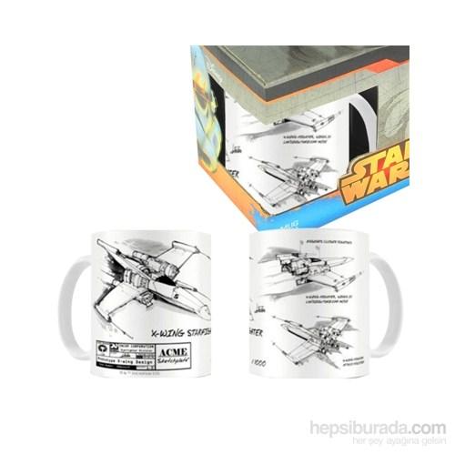 Star Wars: X-Wing White Black Ceramic Mug Bardak
