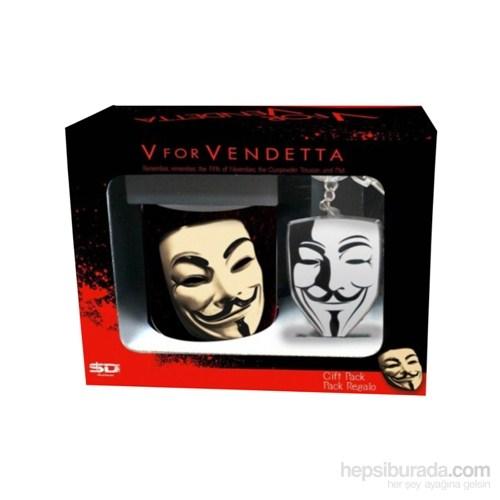 V For Vendetta: Mug & Keychain Gift Pack Hediye Seti