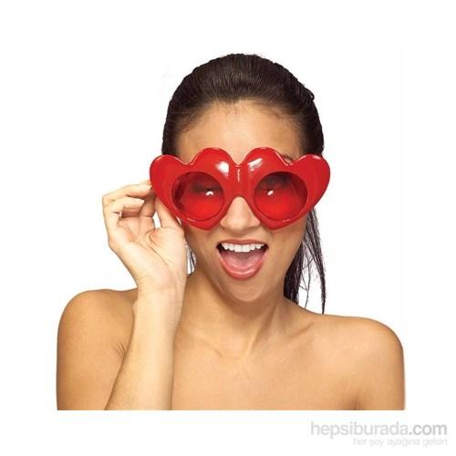Kırmızı Kalp Gözlükler