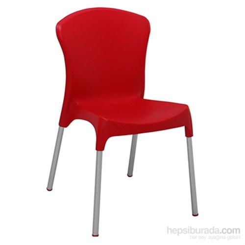 Stella Sandalye Alüminyum Ayak Kırmızı