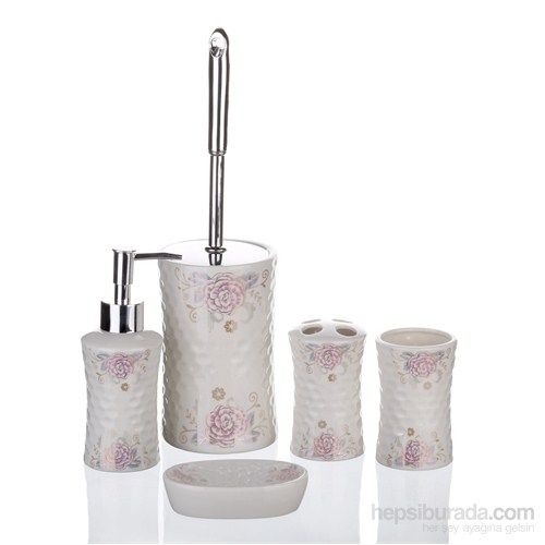İhouse Porselen Banyo Seti 5 Parça