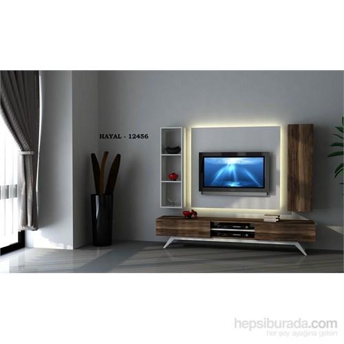 Hayal 12456 Tv Ünitesi Leon Ceviz/Parlak Beyaz