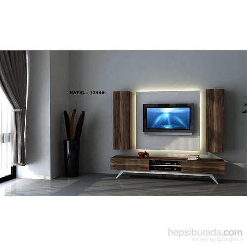 Hayal 12644 Tv Ünitesi Leon Ceviz/Parlak Beyaz