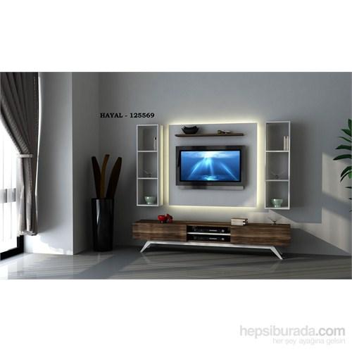 Hayal 125569 Tv Ünitesi Leon Ceviz/Parlak Beyaz