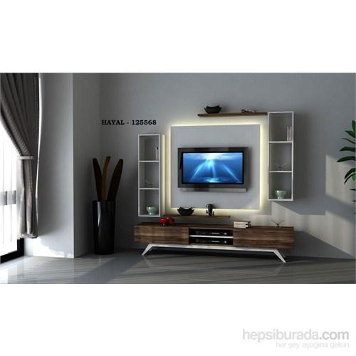 Hayal 125568 Tv Ünitesi Leon Ceviz/Parlak Beyaz