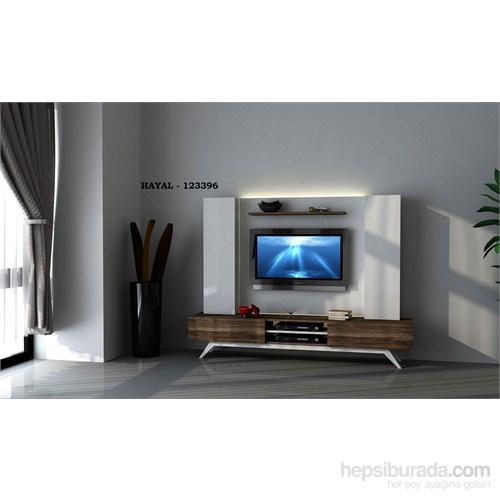 Hayal 123396 Tv Ünitesi Leon Ceviz/Parlak Beyaz