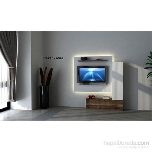 Hayal 6349 Tv Ünitesi Leon Ceviz/Parlak Beyaz