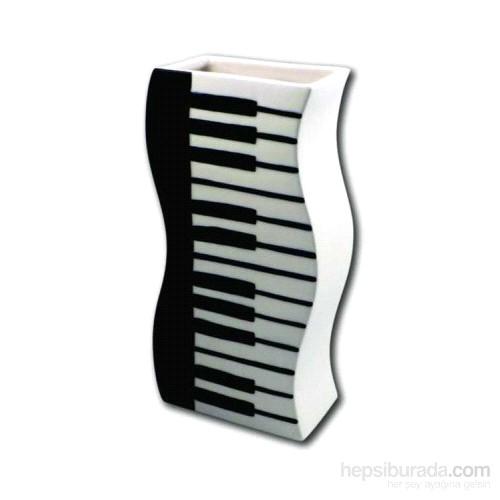 Piyano Tuşeli-Dalgalı Vazo