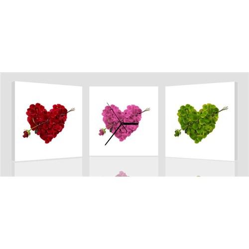 Arte Trio Hearts Kanvas Saat