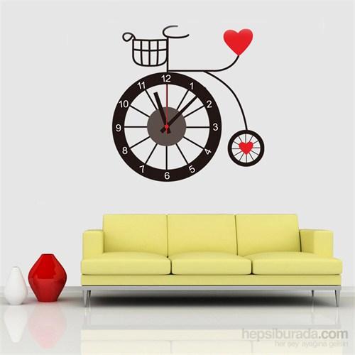 Hardymix Bisiklet Tasarımlı Duvara Yapışan Saat