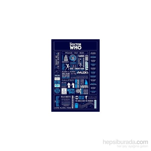 Maxi Poster Doctor Who Infographic