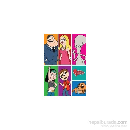 Maxi Poster American Dad Panels
