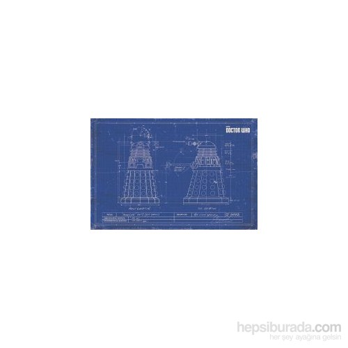 Maxi Poster Doctor Who Dalek Blueprint