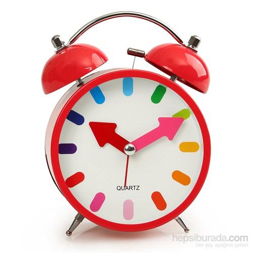 Time Gold Çalar Masa Saati Kırmızı