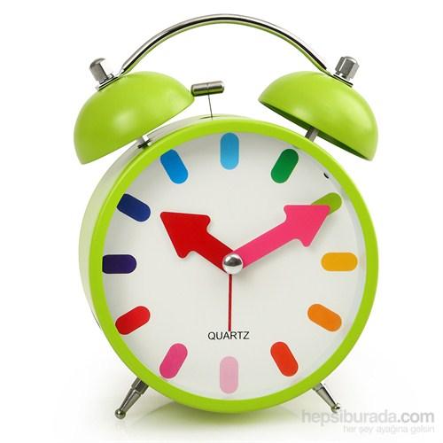 Time Gold Çalar Masa Saati Yeşil