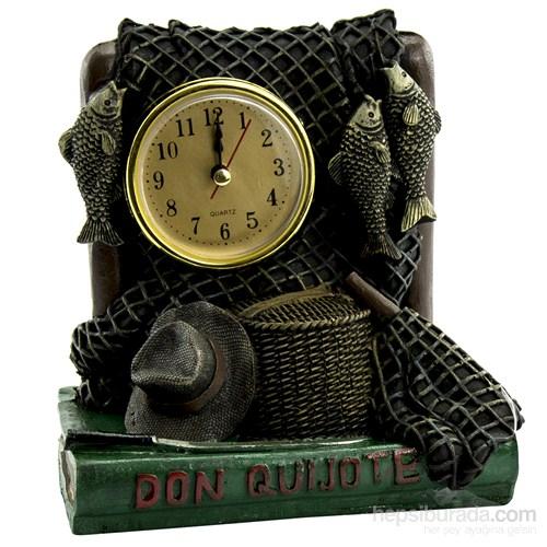 Mukko Home Polyester Balıkçı Masaüstü Saat