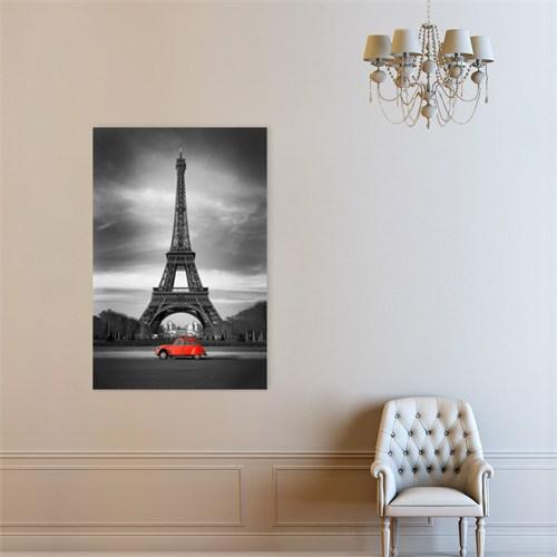 Atlantis Tablo Eyfel Kulesi ve Kırmızı araba 40X60 Cm