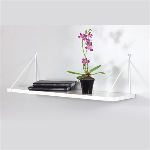 Decormet Armoni Raf ve Kitaplık Seti 1 Raflı 200X720 Beyaz-Parlak Beyaz