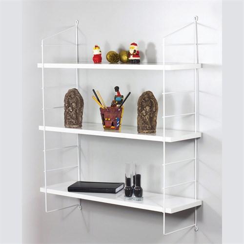 Decormet Armoni Raf ve Kitaplık Seti 3 Raflı 200X720 Beyaz-Parlak Beyaz