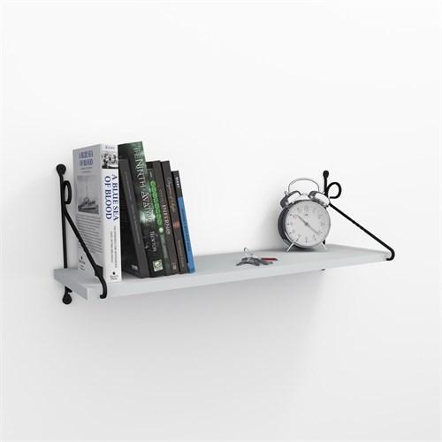 Decormet Seramoni Raf ve Kitaplık Seti 1 Raflı 200X720 Beyaz