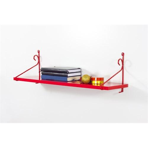 Decormet Seramoni Raf ve Kitaplık Seti 1 Raflı Kırmızı-Kırmızı
